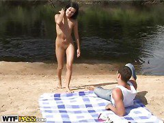 When a guy takes his hawt chick and a camera to the beach, u know what to expect. A hawt amateur outdoor sex film! Luckily, the black brown sexdoll has no shame and willingly performs an extreme unfathomable mouth right on the beach, not giving a damn that somebody might watch it. Then things get way hotter as the horny pair starts fucking like insane, filming it all for this sexy beach porn. So sit back and have a fun their phat vid!