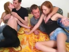If u want a desirous action-packed legal age teenager foursome fuck clip check out those two hawt college couples going at it to get the sheets wet. Those slutty girlfriends are still a year away from turning twenty but their arsenal of sex skills is as impressive as it gets and they are not shy to demonstrate it on camera engulfing weenies and fucking like real pros.